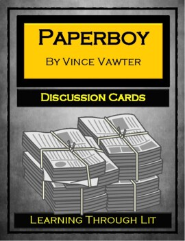 PAPERBOY by Vince Vawter - Discussion Cards