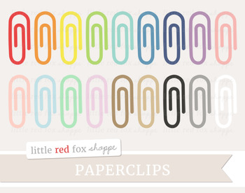 Paperclip Clipart; Office Supplies, Paper Clip