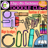 Paperclips and Fasteners Clipart