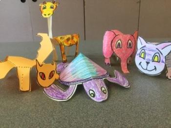Papercraft Animals for K-1 (Art)