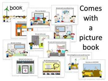 Lab and Workshop Play - Picture Book, Activities, Settings and Figures.