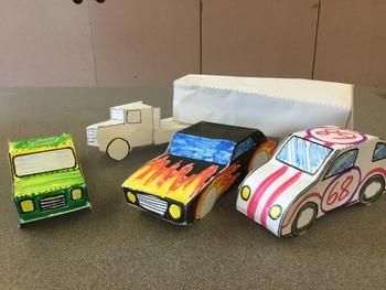 Papercraft Vehicles for Grades 1-3 (Art)