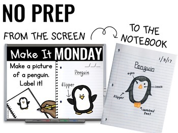 Paperless 1st & 2nd Grade Morning Work | Whiteboard EDITABLE | Distance Learning