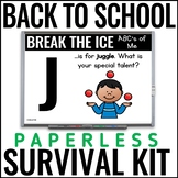 Paperless Back to School Survival Kit {Icebreakers, Procedures, & More}