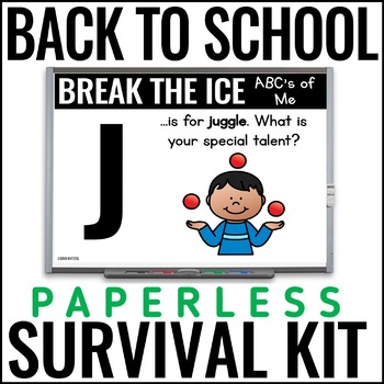 Paperless No Prep Back to School Activities for Beginning of the Year