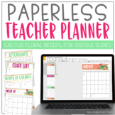 Paperless Cactus Floral Planner