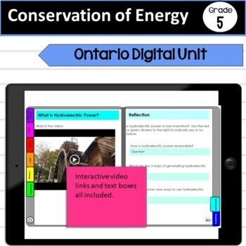 Paperless Conservation of Energy Grade 5 Unit