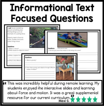 Paperless Digital Science: Force and Motion On Google Slides