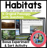 Habitats (Biomes) Google Slides: Paperless Digital Science Reading Comprehension