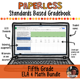 #TPTDIGITAL Paperless Digital Standards Based Gradebook - 5th Grade BUNDLE