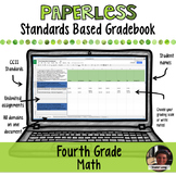 #TPTDIGITAL Paperless Digital Standards Based Gradebook - 4th Grade Math