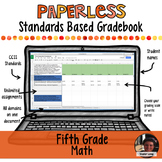 #TPTDIGITAL Paperless Digital Standards Based Gradebook - 5th Grade Math