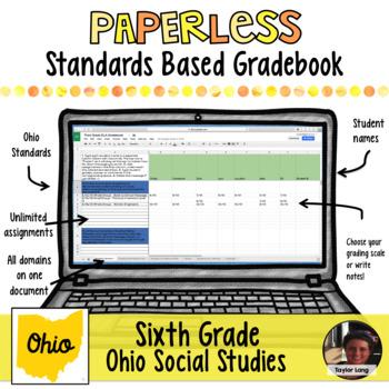 Paperless Digital Standards Based Gradebook - 6th Grade Social Studies Ohio