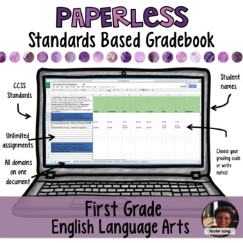 Paperless Digital Standards Based Gradebook - First Grade ELA