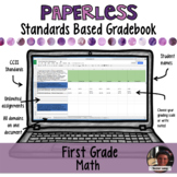 Paperless Digital Standards Based Gradebook - First Grade Math