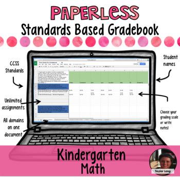 Paperless Digital Standards Based Gradebook - Kindergarten Math