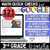 Distance Learning Google Quick Checks | Third Grade Bundle