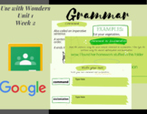 Paperless Grammar Activities-3rd Grade Wonders- Unit 1 Week 2
