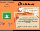 Paperless Grammar Activities-Wonders 3rd Grade-Unit 1 Week 5