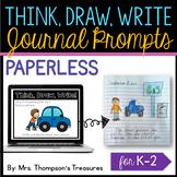 Paperless Journal Writing Prompts {Kindergarten, First, Second}