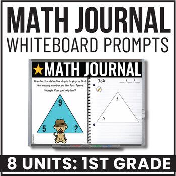 Practically Paperless™ Math Journal 1st Grade {Whiteboard-based & EDITABLE}