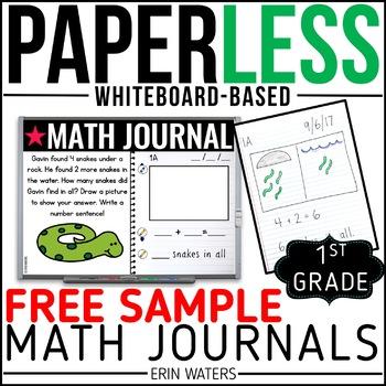 Practically Paperless™ Math Journal {1st Grade FREE SAMPLE}