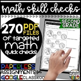 Paperless Math Skill Checks: Second Grade