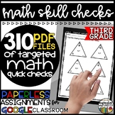 Paperless Math Skill Checks: Third Grade