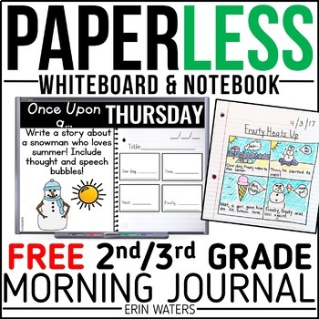 Paperless Morning Work Bundle {2nd/3rd Grade FREE SAMPLE}