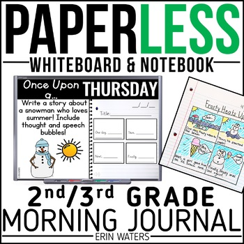 Practically Paperless™ Morning Work 2nd/3rd Grade {Whiteboard-based & EDITABLE}