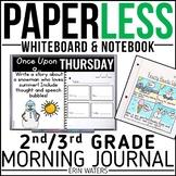 Practically Paperless™ Morning Work 2nd/3rd Grade {Whiteboard-based & EDITABLE}
