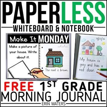 Practically Paperless™ Morning Work 1st Grade {FREE SAMPLE}