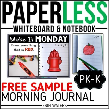 Practically Paperless™ Morning Work {Kindergarten FREE SAMPLE}