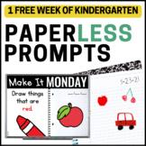 Practically Paperless™ Morning Work {Kindergarten FREE SAMPLE}