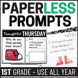 Paperless 1st Grade Morning Work | 1st Grade Writing | Dis