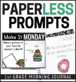 1st Grade Morning Work | Back to School | Google Classroom | Writing Prompts