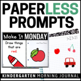 Paperless Kindergarten Morning Work | Whiteboard & EDITABLE | Distance Learning