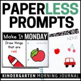 Paperless Kindergarten Morning Work | Whiteboard & EDITABLE | Distance Learning