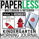 Paperless Kindergarten Morning Work | Whiteboard & EDITABL