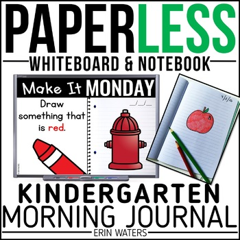 Paperless Morning Work Kindergarten Bundle {Whiteboard Edi