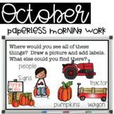 Paperless Morning Work - October