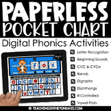 Paperless Pocket Chart™ Phonics BUNDLE (Word Work Google Classroom Activities)