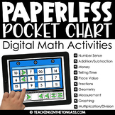 Paperless Pocket Chart™ Math (Digital Math Centers)