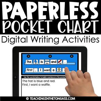 Paperless Pocket Chart™ Writing (Grammar & Writing Google Classroom Activities)