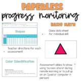 Paperless Progress Monitoring Basic Math | Virtual learnin