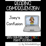 Paperless Reading Comprehension: Joey's Confusion (Distanc