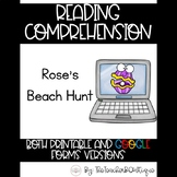 Paperless Reading Comprehension: Rose's Beach Hunt (Distan
