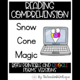 Paperless Reading Comprehension: Snow Cone Magic (Distance