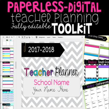 Paperless Teacher Planner Toolkit