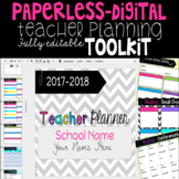 Brights Digital Teacher Planner Toolkit to use with Google Drive